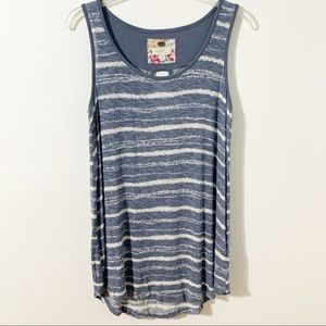 Cupio Sleeveless Tee with Cutout in Back